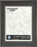 Autographs:Letters, Multi-Signed Framed and Matted Autograph Page. A multi-signedautograph page with signatures of stars of both baseball and ...