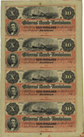 Obsoletes By State:Louisiana, New Orleans, LA- Citizens Bank of Louisiana $10-10-10-10 G26a Uncut Sheet. ...
