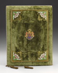 Royal Memorabilia, Austro-Hungarian Ink Blotter Belonging to Archduke Karl LudwigJoseph Maria of Austria . Circa 1890. Rectangular, gree...