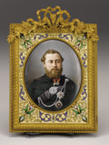Decorative Arts, British:Other , Royal Portrait of Edward VII as Prince of Wales. French, circa1875. Hand-painted photograph depicting the Prince wear...