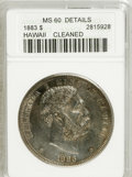Coins of Hawaii, 1883 $1 Hawaii Dollar--Cleaned--ANACS. MS60 Details. ...