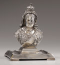 Silver Smalls:Other , Victorian Silver-Plated Inkwell Commemorating Queen Victoria'sDiamond Jubilee. English, circa 1897. In the form of th...