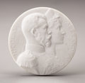 Ceramics & Porcelain, Russian, Sèvres Bisque Porcelain Nicholas and Alexandra MedallionCommemorating their Visit to the Factory. French, circa1896. ... (Total: 2 Items)