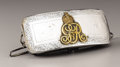 Royal Memorabilia:British, British George V Silver Cartridge Box. Circa 1915. Oftypical form, set with the crowned brass initials GRV forGe...