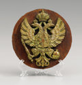 Paintings, Austro-Hungarian Imperial Eagle Mounted on Wood. Circa 1890. -4 ¼ in. diam. ...
