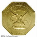 Territorial Gold: , 1851 $50 RE Humbert Fifty Dollar, 880 Thous. AU50 PCGS. K-...