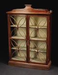 Furniture, A Diminutive English Vitrine. Unknown maker, English. Late Eighteenth/Early Nineteenth Century. Mahogany. Unmarked. 39 inc...