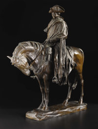 A Bronze Sculpture of George Washington at Valley Forge  Henry Merwin Shrady (1871-1922), American Modeled 1905; cast ci...