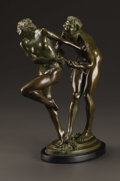 Bronze:American, HARRIET WHITNEY FRISHMUTH (American 1880-1980). Rhapsody,1925. Bronze. 12.5in. tall. Signed on base. Gorham Co. Founder...