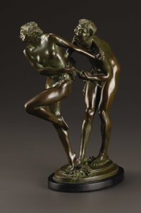 HARRIET WHITNEY FRISHMUTH (American 1880-1980) Rhapsody, 1925 Bronze 12.5in. tall Signed on base Gorham Co. Founder