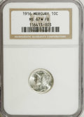 1916 10C MS67 ★ Full Bands NGC. A brilliant Superb Gem that has outstanding luster and a small area of prooflike surface...