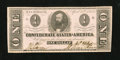 Confederate Notes:1863 Issues, T62 $1 1863. This boldly signed issue has a lone vertical fold.Choice About Uncirculated....