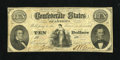 Confederate Notes:1861 Issues, T25 $10 1861. This attractive and original $10 is printed on CSA watermarked paper and boasts strong remaining signatures. M...