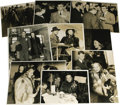 "Movie/TV Memorabilia:Photos, Eddie Cantor, Brian Donlevy, and Sonja Henie British Tour Photos. Aset of one b&w 6"" x 9"" and eight b&w 8"" x 10"" photos of ..."