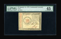 Continental Currency January 14, 1779 $1 PMG Choice Extremely Fine 45. This is a wonderfully margined and boldly signed...