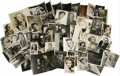 "Movie/TV Memorabilia:Autographs and Signed Items, Vintage British Actor Vintage Photo Assortment. This set of 60b&w photos ranging in size from 3"" x 3.5"" to 8"" x 10""include..."