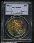 Morgan Dollars: , 1882-S $1 MS66 PCGS. Semi-prooflike and well defined ...