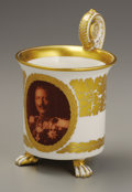 Ceramics & Porcelain, Continental:Other , Berlin KPM Kaiser Wilhelm II Ceramic Mug. Circa 1900.Depicting the bust of Wilhelm II, Emperor of Germany, King of Pr...