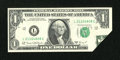 Error Notes:Foldovers, Fr. 1907-L $1 1969D Federal Reserve Note. Extremely Fine....