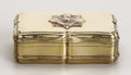 Silver Smalls:Snuff Boxes, Victorian Silver-gilt Presentation Snuffbox. Marked WilliamSummers, London, 1868 WS N . Rectangular, of shaped outlin...(Total: 2 Items)