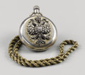 Timepieces:Pocket (pre 1900) , Gentleman's Russian Silver Pocket Watch. Late 19th century.Hunter's case, the cover applied with a high-relief Imperi...(Total: 2 Items)