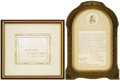 Royal Memorabilia, Queen Victoria Letter and Envelope with Royal Seal. A letteraddressed to Ferdinand II, King of the Two Sicilies (r. 1830-...(Total: 2 Items)