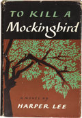 Books:First Editions, Harper Lee. To Kill a Mockingbird. Philadelphia & NewYork: J. B. Lippincott & Company, [1960]....