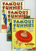 Golden Age (1938-1955):Miscellaneous, Famous Funnies Group (Eastern Color, 1940-41) Condition: Average FN.... (Total: 4 Comic Books)