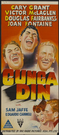 "Movie Posters:Action, Gunga Din (RKO, 1939). Wartime Australian Daybill (13"" X 30""). Action...."