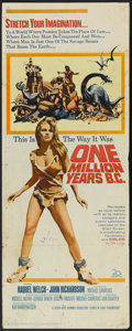 "Movie Posters:Adventure, One Million Years B.C. (20th Century Fox, 1966). Insert (14"" X36""). Adventure...."