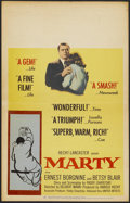 "Movie Posters:Academy Award Winner, Marty (United Artists, 1955). Window Card (14"" X 22""). AcademyAward Winner...."
