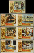 """Movie Posters:Adventure, Tarzan the Magnificent (Paramount, 1960). Lobby Cards (7) (11"""" X14""""). Adventure.... (Total: 7 Items)"""