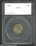 Additional Certified Coins: , 1926-S 5C Nickel MS62 SEGS (AU55 Cleaned, Retoned). Olive,...