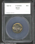 Additional Certified Coins: , 1937-D 5C Three-Legged Nickel MS63 SEGS (MS62 Questionable ...