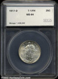 Additional Certified Coins: , 1917-D 25C Type One Quarter MS64 Full Head SEGS (MS64 Full ...