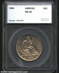 Additional Certified Coins: , 1854 50C Arrows Half Dollar MS65 SEGS (MS64 Questionable ...