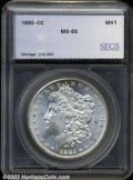 Additional Certified Coins: , 1885-CC $1 Morgan Dollar MS64 SEGS. (MS64). A lustrous, ...