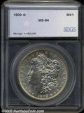 Additional Certified Coins: , 1903-O $1 Morgan Dollar MS64 SEGS (MS62). A lightly ...