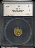 Additional Certified Coins: , 1854 G$1 Type Two MS63 Faint Pin Scratch, Light Hairlines ...