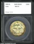 Additional Certified Coins: , 1935-S 50C San Diego Commemorative Half Dollar MS67 SEGS (...