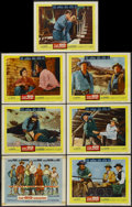 """Movie Posters:Western, The Big Country (United Artists, 1958). Title Lobby Card and Lobby Cards (6) (11"""" X 14""""). Western.... (Total: 7 Items)"""
