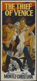 "Movie Posters:Adventure, The Thief of Venice (20th Century Fox, 1950). Australian Daybill(13"" X 30""). Adventure...."