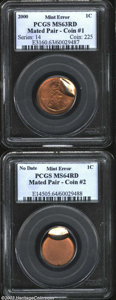 Errors: , A mated pair of 2000 Cents that includes: 2000 1C Cent ... (2 coins)