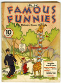 Platinum Age (1897-1937):Miscellaneous, Famous Funnies #34 (Eastern Color, 1937) Condition: GD....