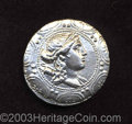 Ancients:Greek, Ancients: Macedon, Under Roman Rule. After 168 B.C. AR tetradrachm(31 mm, 17.00 g). Macedonian shield embossed with diademed head of...