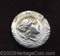 Ancients:Greek, Ancients: Macedon, Under Roman Rule. After 168 B.C. AR tetradrachm(31 mm, 16.49 g). Macedonian shield embossed with diademed head of...