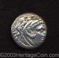 Ancients:Greek, Ancients: Macedonian Kingdom. Alexander III. 336-323 B.C. ARtetradrachm (27 mm, 16.79 g). Odessos, ca. 281-ca. 196/88 B.C. Headof He...