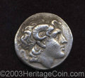 Ancients:Greek, Ancients: Thracian Kingdom. Lysimachos. 323-281 B.C. AR tetradrachm(30 mm, 16.62 g). Lampsakos, ca. 297-281 B.C. Head of deifiedAlex...