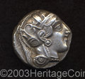 Ancients:Greek, Ancients: Attica, Athens. Ca. 449-393 B.C. AR tetradrachm (24 mm,17.18 g). Helmeted head of Athena right / Owl standing right; olive...
