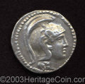 Ancients:Greek, Ancients: Attica, Athens. Ca. 145/4 B.C. AR tetradrachm (32 mm,16.53 g). 'New Style' issue. Helmeted head of Athena right / Owlstand...